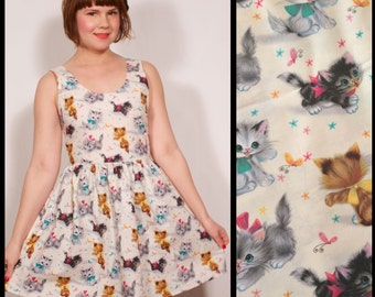 Vintage Kitten Tank Top Party Dress MADE TO ORDER