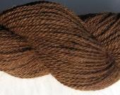 Brown Alpaca and Wool Yarn - Farm Grown, Mill Spun - 250 yards - DK Weight for Knitting, Crochet, Weaving, Felting - Sonata - FREE Shipping