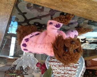 Dog clothes - Pet clothes -Made to measure - hand made - alpaca wool sweater - other colors are possible