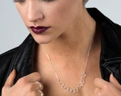 Link Necklace - A Delicate Rope of Interlocking of Sterling Silver Circles Handmade by Queens Metal