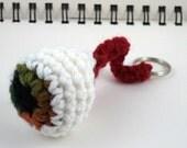 Hazel Crocheted Eyeball Key Ring