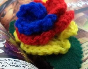 Crocheted Rose Barrette - Hero (SWG-HB-HEFC01)