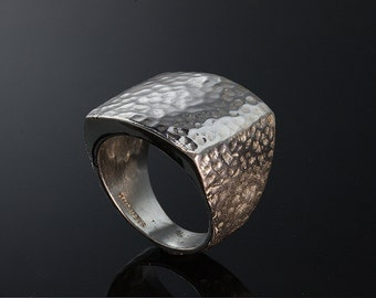 Large Sterling Silver Ring by Cavallo Fine Jewelry