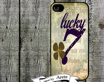 iphone 6 case Lucky Shamrock and Seven Shamrock iPhone Case - for iphone 4,4s and iPhone 5 5s - St. Patrick's Day Phone Cover