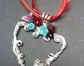 Love Entwined Necklace with Flowers