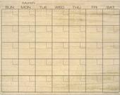 Wood Grain Pattern Dry Erase Monthly Calendar Fridge Magnet #3596