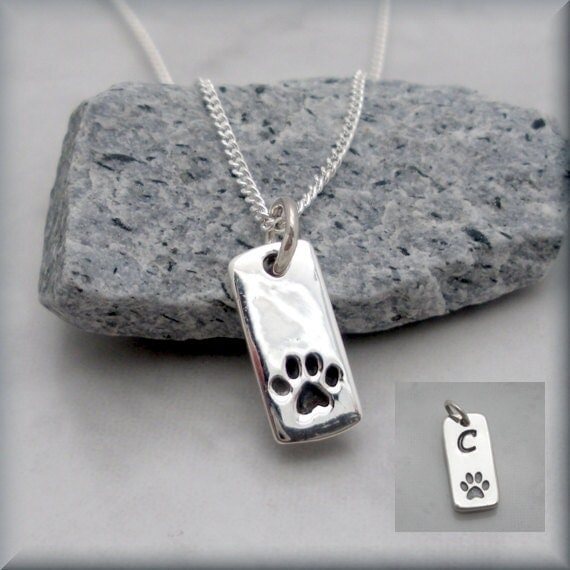 Dog Paw Necklace Pet Jewelry Sterling Silver Pet Necklace