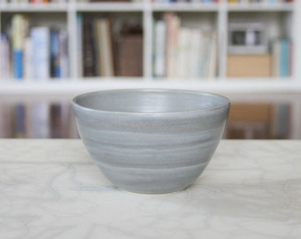 SALE Pottery Bowl in Steel Grey