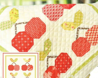 MINI Cherry Pie quilt pattern wall hanging from Fig Tree and Co.