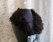 Sidecar Collar in dark chocolate brown - One of a Kind