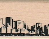 rubber stamps Chicago Skyline cling stamp, unmounted or wood mounted    Illinois  3992
