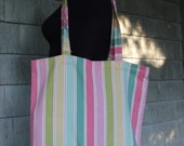 Pastel Pantone Stripes Totebag--Perfect for everything you carry around