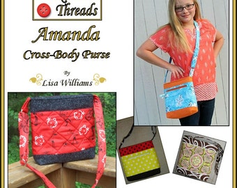 INSTANT DOWNLOAD: Amanda Cross-Body Purse - diy Tutorial pdf eBook Pattern - 3 Sizes Included