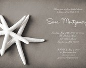 25 cards per set- bridal shower invitations  - White Starfish