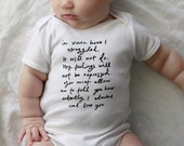 Last in stock- Mr. Darcy Proposal Baby one-piece - SIZE 12-18 months