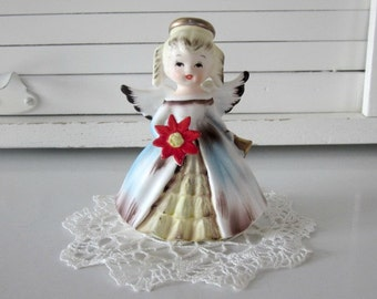 Vintage Inarco Japan Figurine Christmas Angel