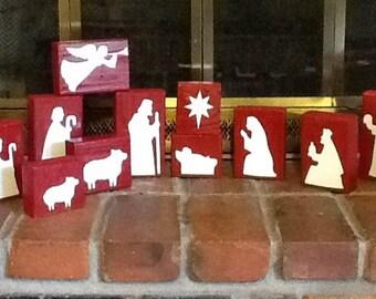 Vinyl Nativity - DIY fits 2x4 wood pieces - VINYL ONLY