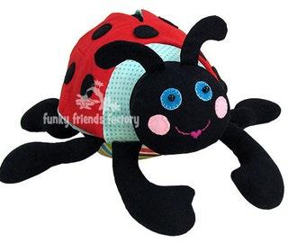 Ladybug Stuffed Toy Sewing Pattern PDF - Lily Ladybug