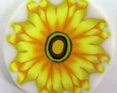 Polymer clay millefiore cane - Yellow flower
