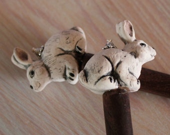 Bunny Rabbit Hair Sticks