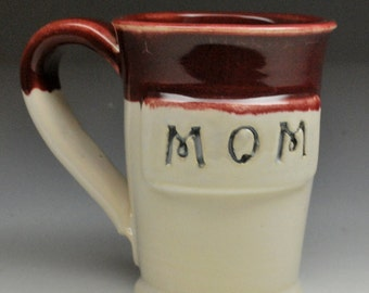 Gift for Mom Stoneware Clay Pottery Mug