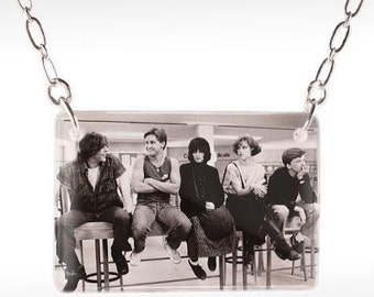 Breakfast Club Necklace - 80s Movie, John Hughes, Molly Ringwald, Photo Necklace