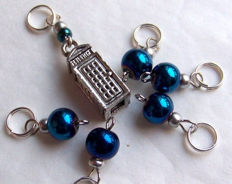 Hand Made Stitch Markers -- Time and Relative Dimension in Stitch Markers (TARDIS)
