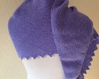 KNIT LADIES SCARF/Lavender Blue Hitchhikers Scarf Multi function Scarf Ladies/Womens Neckwear Wrap Stole Wrapping-Ready to Ship