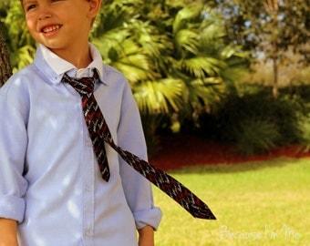 Boys Valentines Day necktie, love black necktie, gift for birthday, boys wedding necktie, first birthday necktie, toddler necktie, boy gift