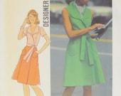 70s Simplicity 6844 Misses' Front-Wrap Dress Designer Fashion Size 10 Bust 32 1/2 Uncut