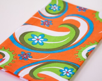Paisley Tea Towel Orange