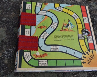 Vintage Children's Gameboard Journal