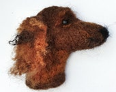 Needle Felted Spaniel Dog Brooch