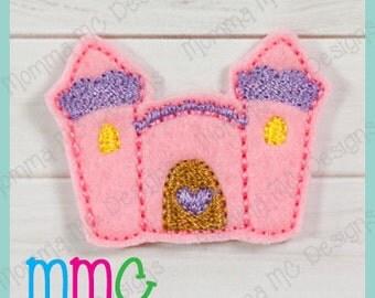 Castle Felt Feltie Embroidery Design