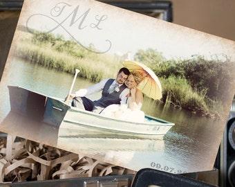Vintage Postcard Wedding Thank You (Bride and Groom) - Design Fee