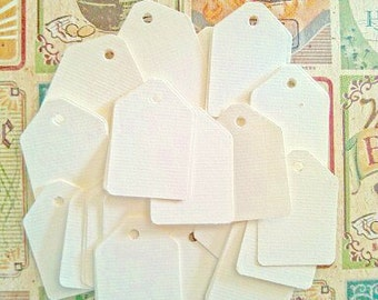 Soft White-  Gift Tags - Product Tags - Price Tags - Set of 50