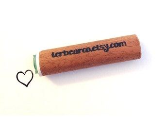 heart peg rubber stamp