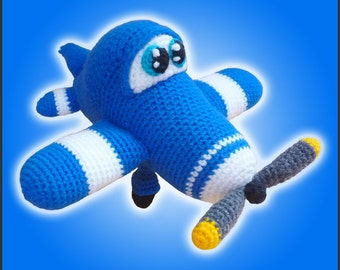 Amigurumi Pattern Crochet Howie Airplane DIY Digital Download