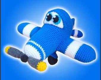 Amigurumi Pattern Crochet Howie Airplane DIY Instant Digital Download PDF