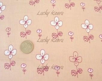 Megumi Sakakibara Hana Moyou Peach Japanese Fabric - Half Yard