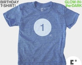 First 1st Birthday TShirt, Boys Birthday, Girls, Baby, Glow-in-the-Dark, Kids BIRTHDAY Shirt, 1st Birthday, First Birthday Party Favors