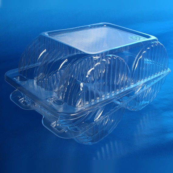 Donut Container Clear Plastic Disposable Bakery Box