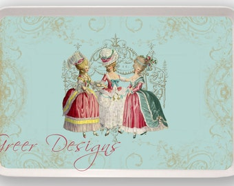 Marie Antoinette Three Ladies in Waiting French Style Melamine Serving Tray