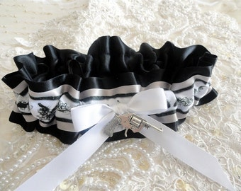 Satin Gun Enthusiast Garter-Hunting-Second Amendment- Right to Carry Arms-Pistols-Ammunition-NRA