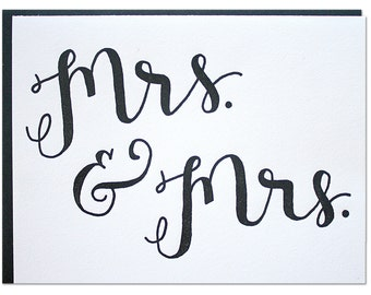 Mrs. and Mrs. Letterpress card