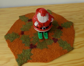 pumpkin holiday table mat