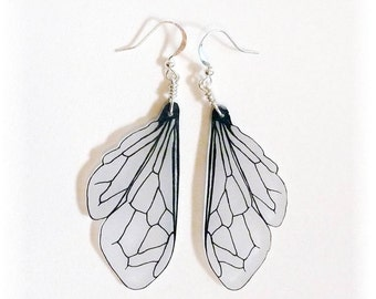 Honey bee wing dangle earrings