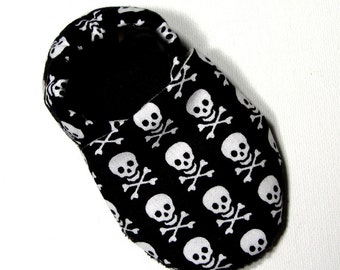 Skulls Soft Soled Baby Shoes 0-6 mo