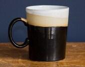 Black stripe Stoneware Mug.