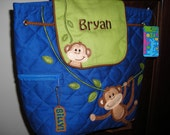 Personalized Stephen Joseph Quilted Back Pack Monkey by Never Felt Better